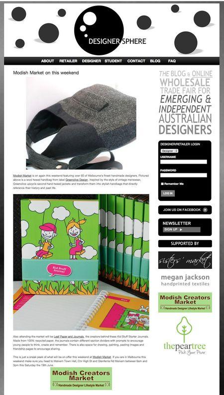Designer sphere blog feature