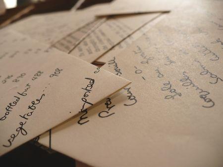 Typewritter envelopes