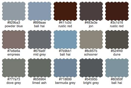 Patina colour palette