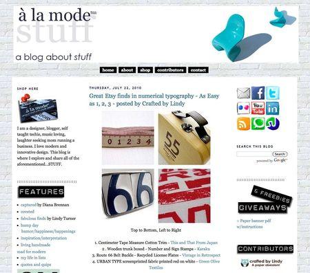 A la mode blog feature