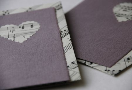 2 purple hearts cards
