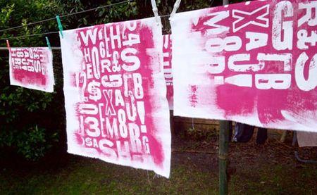 Hot pink type fabric